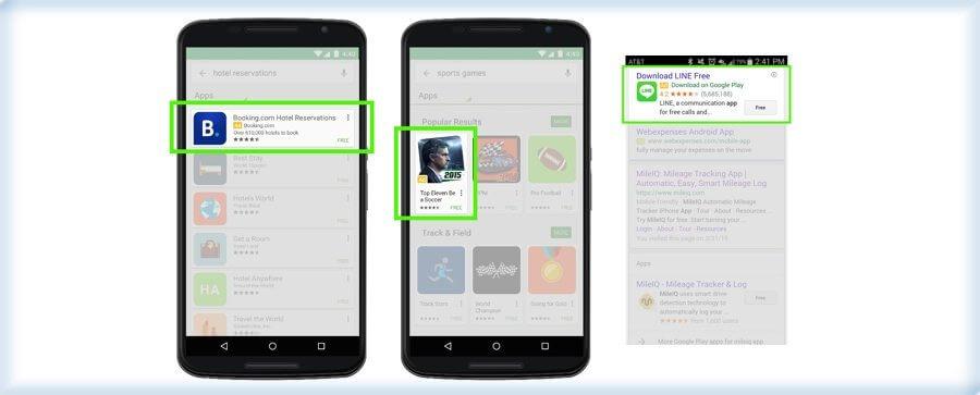 تبلیغات اپلیکیشن در گوگل پلی